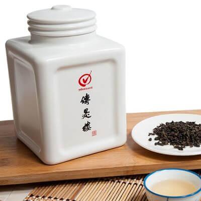 傳是樓-神祕湖有機茶-瓷瓶精裝-300g