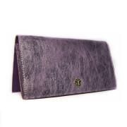 蠶絲皮長夾-幻紫色