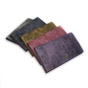 蠶絲長夾有多種顏色可選擇-幻紫、洋紅、銀灰、燦金、墨灰,等五色