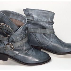 雙扣中筒靴