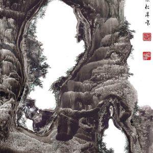 EIA02-彩墨-奇岩洞天-2016-蔡松潭老師