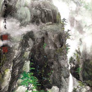 EIA02-彩墨-春山新綠-2016-蔡松潭老師