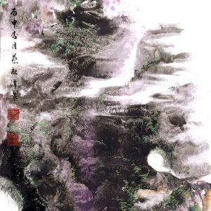 EIA02-彩墨-遠山近水和春意-2016-蔡松潭老師