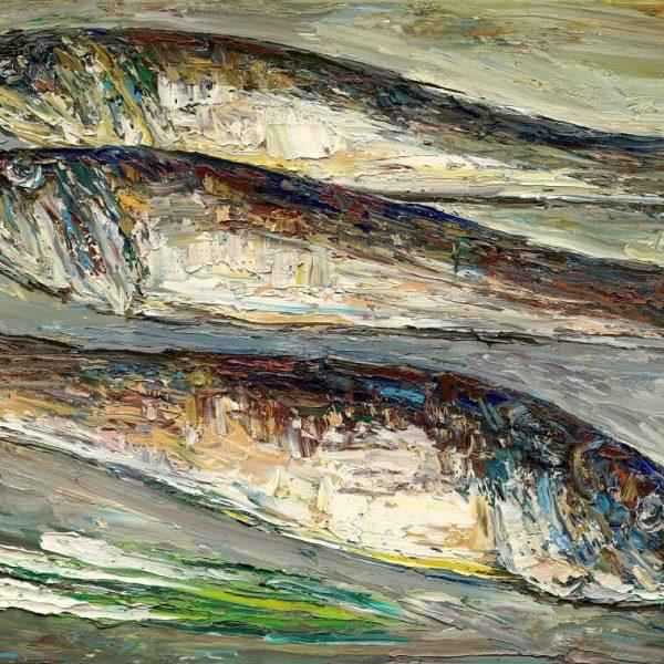 EIA03-油畫-年年有餘60F-2001年-柳青松